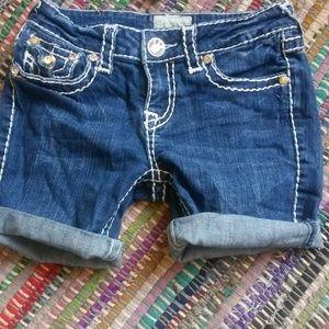 ⚡LA Idol Jean Shorts with jeweled pockets